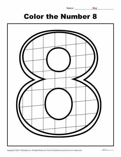 Number 8 Worksheets for Preschoolers Best Of Color the Number 8