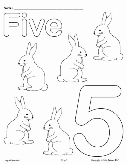 Number Coloring Worksheets for Preschoolers Kids Printable Animal Number Coloring Numbers Preschool Color by