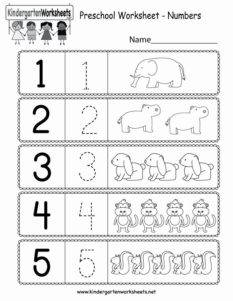 Number Counting Worksheets for Preschoolers Best Of 5 Free Preschool Kindergarten Worksheets Counting