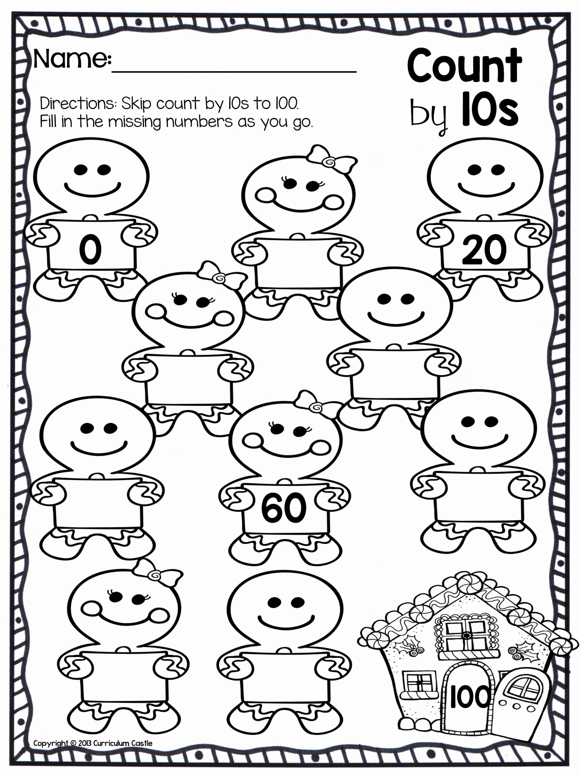 Number Counting Worksheets for Preschoolers Free Christmas Counting Worksheets Printable and Math Worksheets