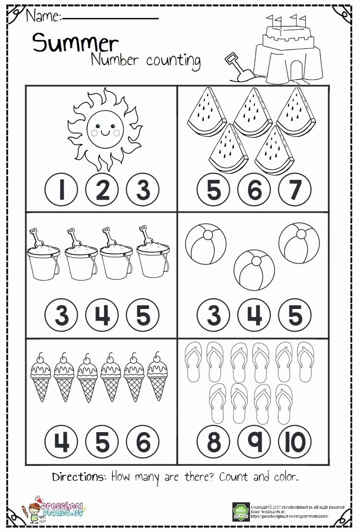Number Counting Worksheets for Preschoolers top Counting Worksheets