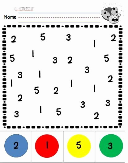 Number Recognition Worksheets for Preschoolers Free Number Recognition Practice