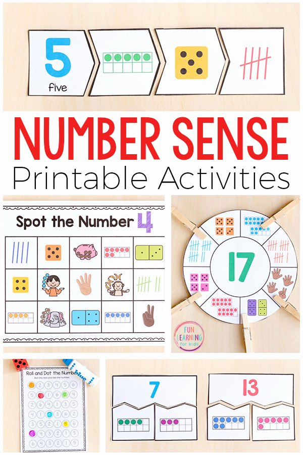 Number Sense Worksheets for Preschoolers Best Of Printable Number Sense Activities for Kindergarten and First
