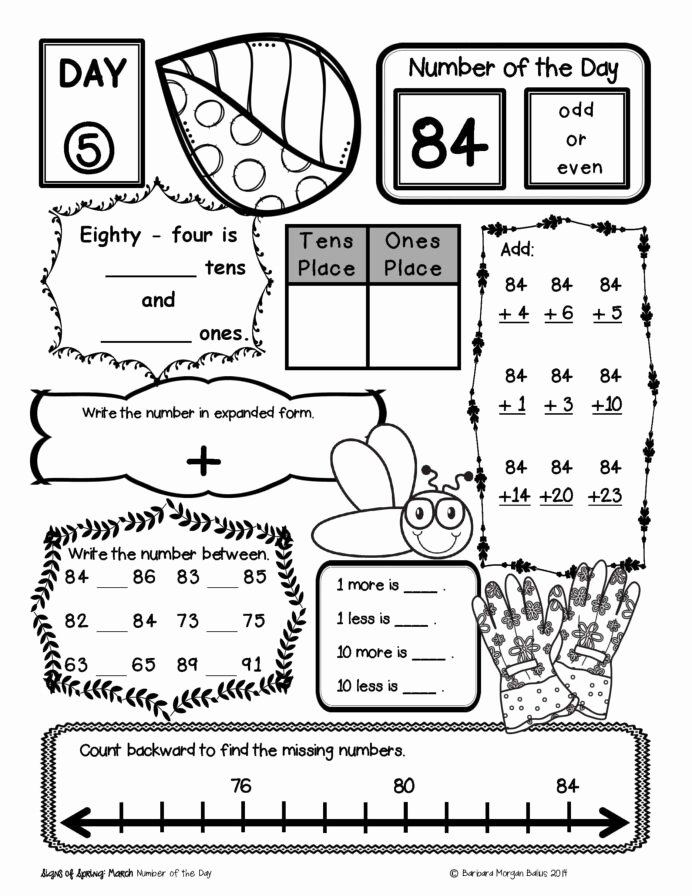 Number Sense Worksheets for Preschoolers Fresh Place Value Number Sense Practice the Morning Work