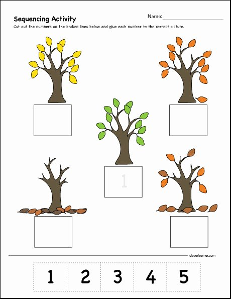 Number Sequencing Worksheets for Preschoolers top which Es First Second and Third Sequence Activity for Kids