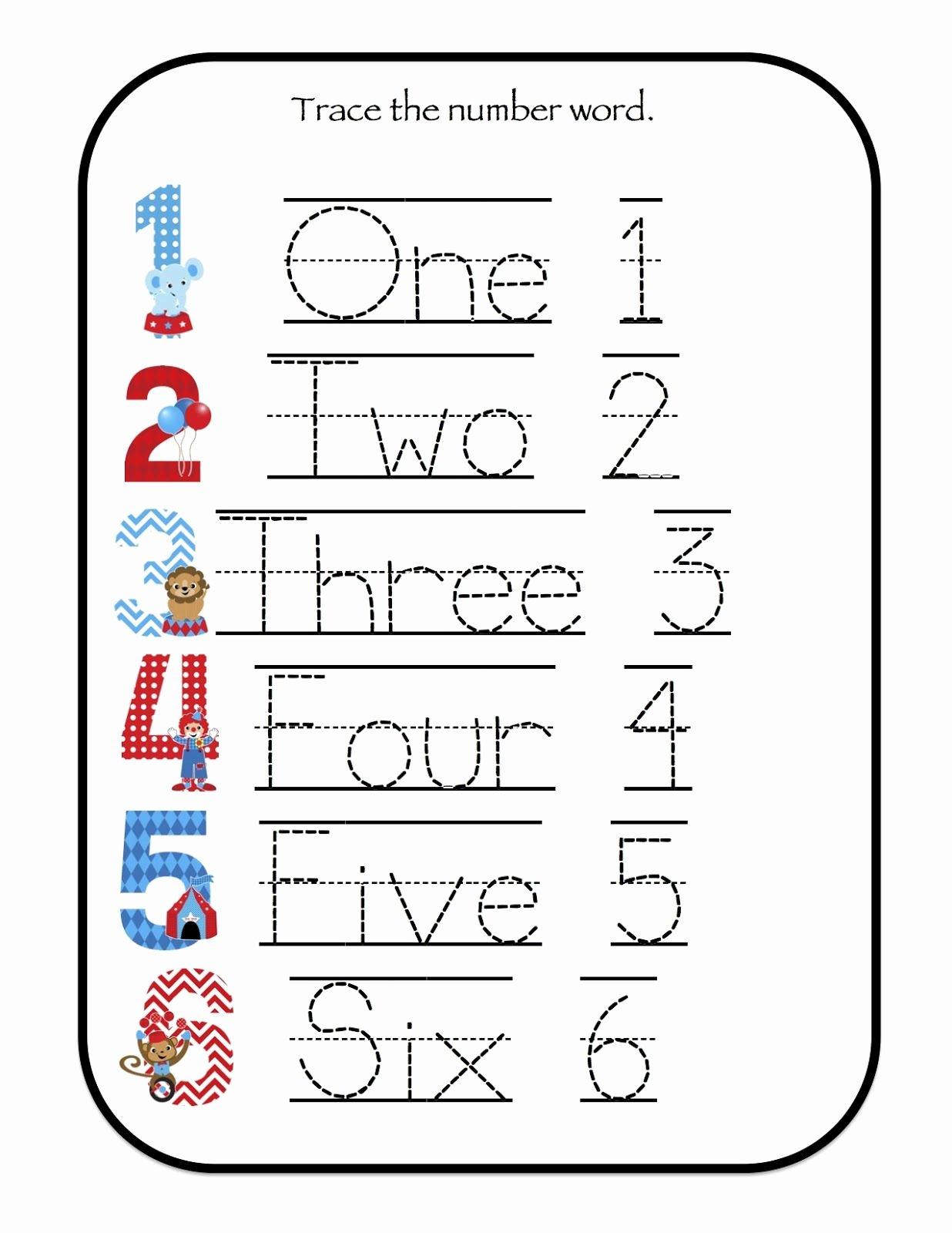 Number Six Worksheets for Preschoolers top Number 6 Worksheets for Preschool