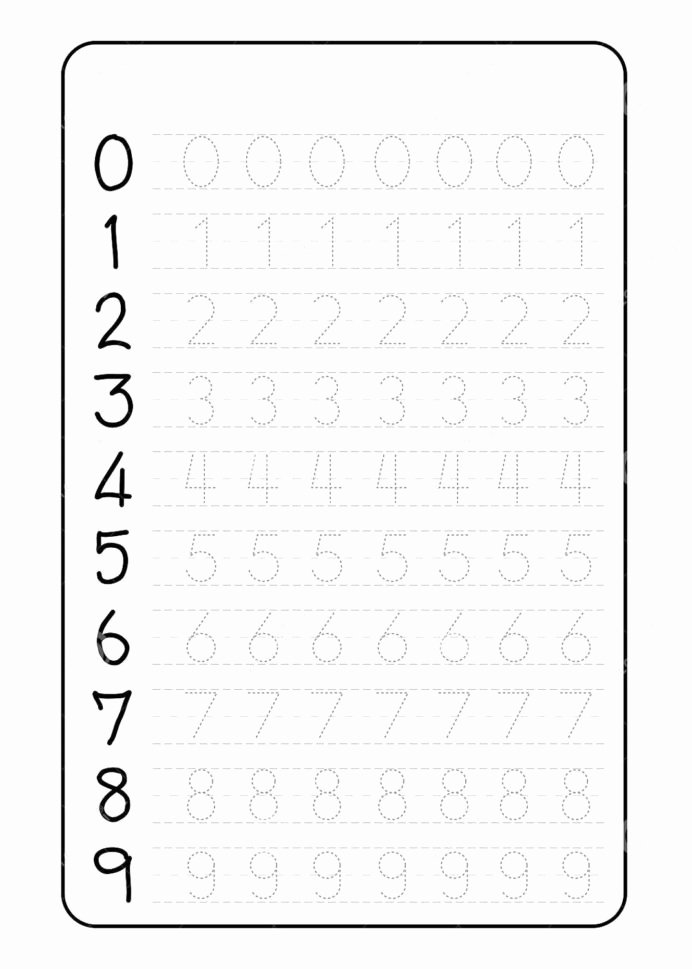 Number Tracing Worksheets for Preschoolers New Number Trace Worksheets Tracing for Preschool Grade Word