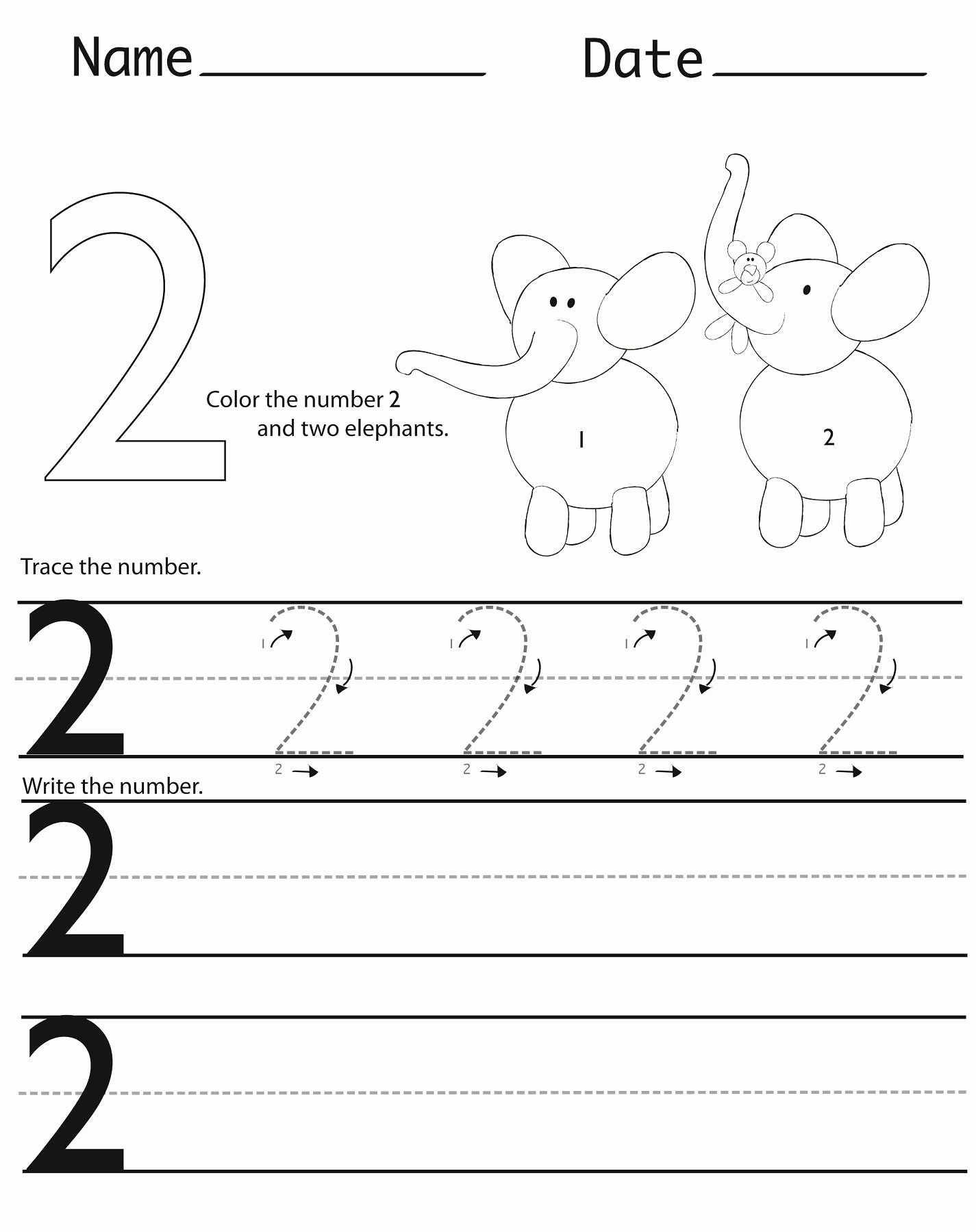 Number Two Worksheets for Preschoolers New Writing Numbers Worksheets Printable