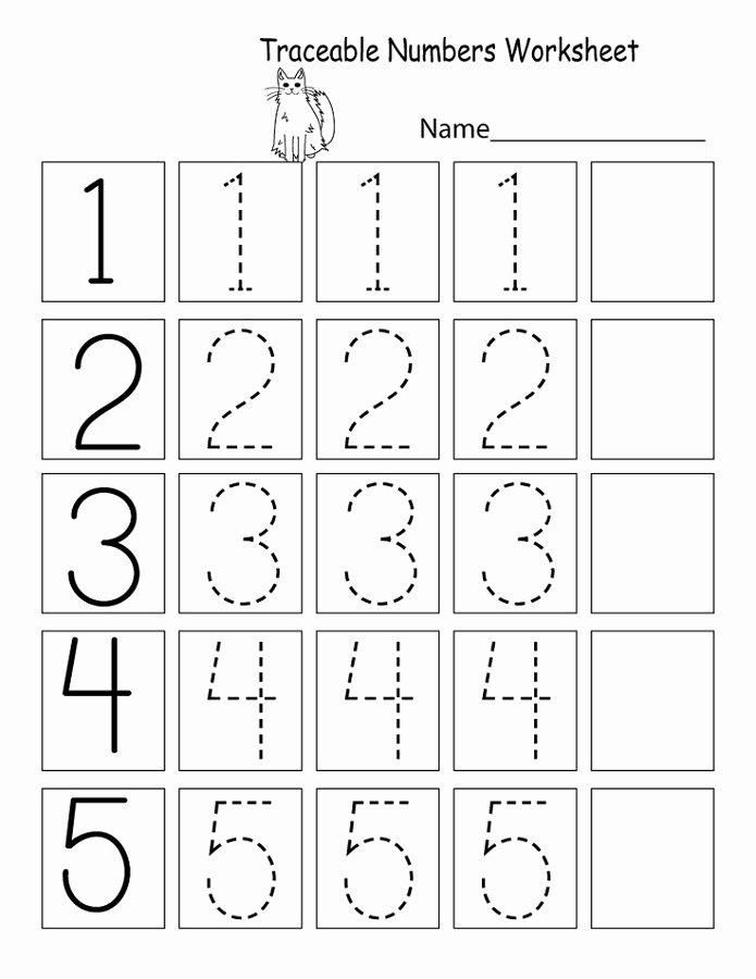 Number Worksheets for Preschoolers Lovely Trace Number Worksheets for Preschoolers