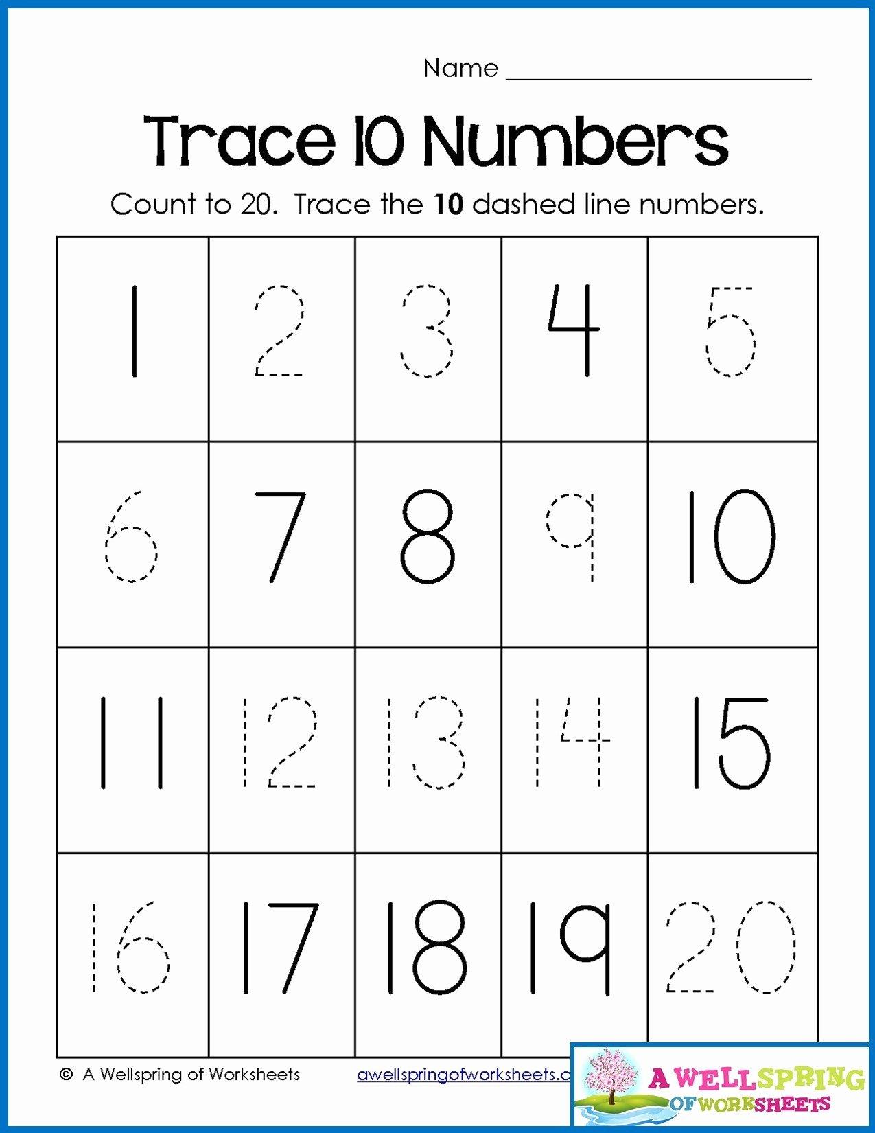 Number Worksheets for Preschoolers Printable Math Worksheet Number Worksheets for Preschool Christmas