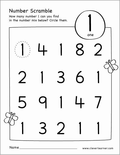 Numbers Worksheets for Preschoolers Free Printables New Free Printable Scramble Number Activity