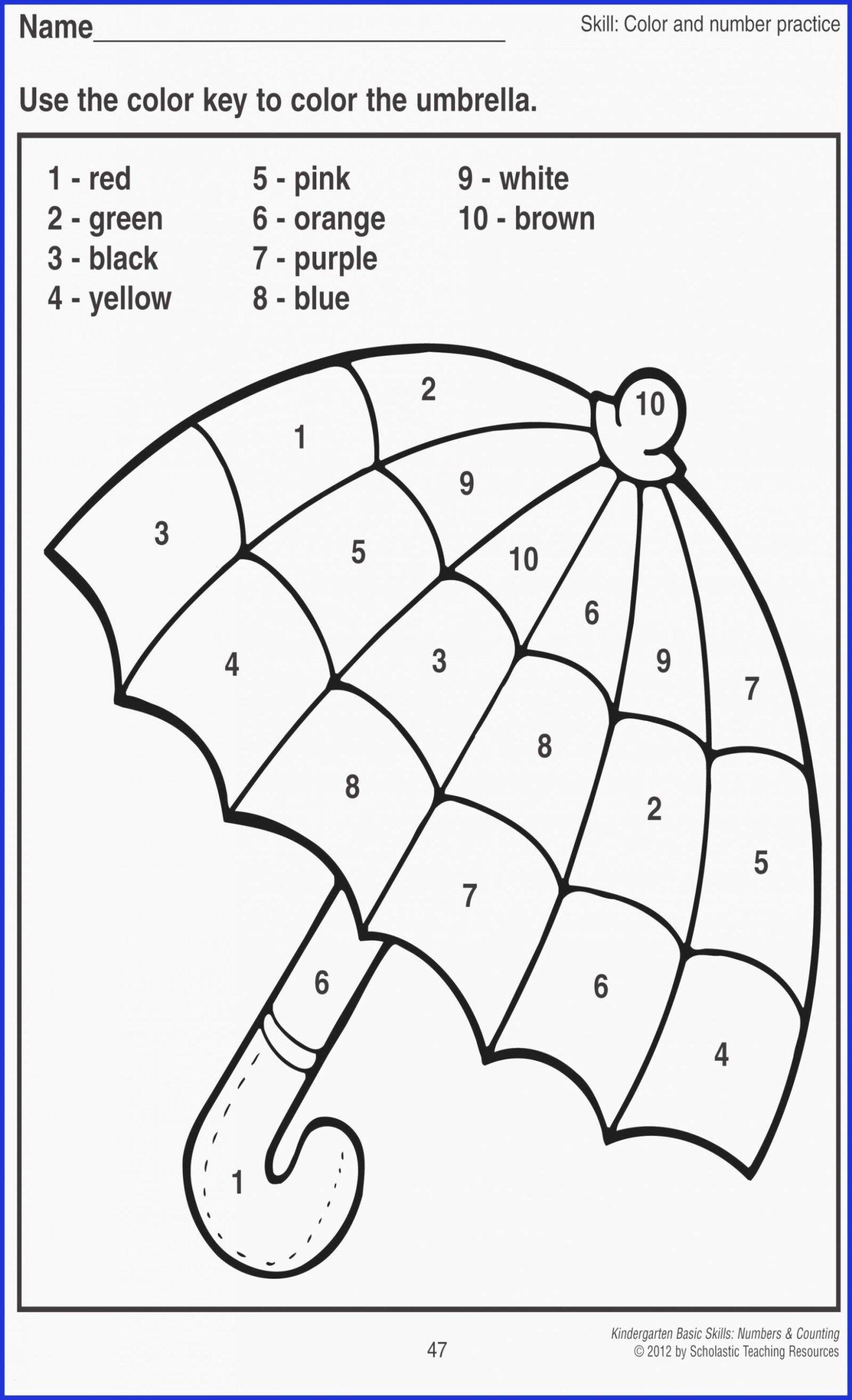 Numbers Worksheets for Preschoolers Free Printables top Free Printable Color by Number Worksheets Coloring Book Easy