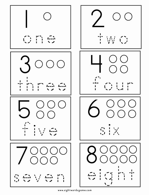 Numbers Worksheets for Preschoolers Kids Number Worksheets