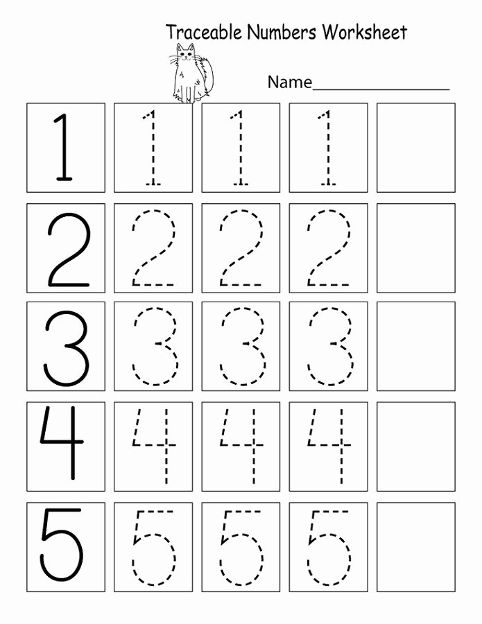 Numbers Worksheets for Preschoolers Lovely Trace Number Worksheets for Preschoolers