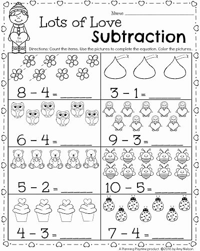 Numeracy Worksheets for Preschoolers Kids Kindergarten Math and Literacy Worksheets for February