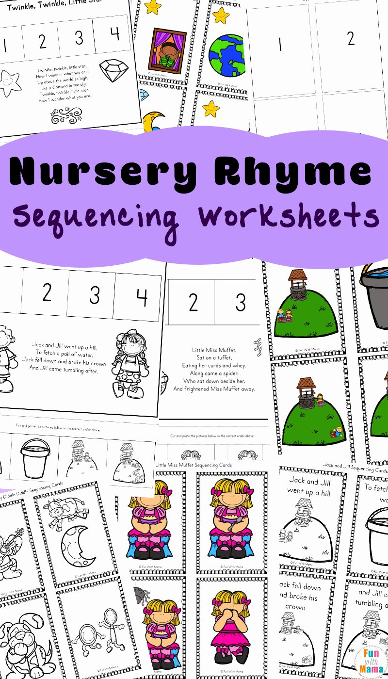Nursery Rhymes Worksheets for Preschoolers Lovely Free Nursery Rhymes Sequencing Activities Fun with Mama