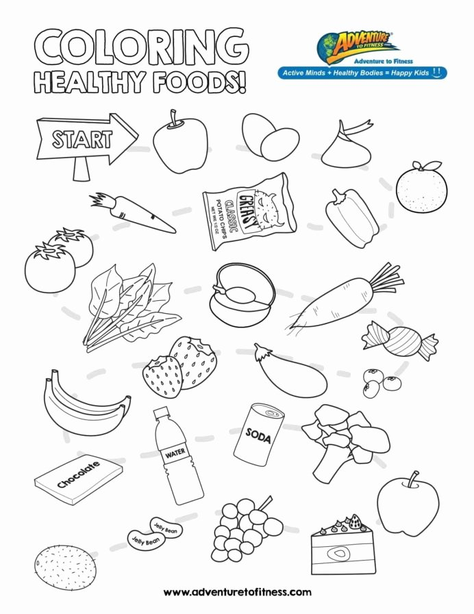 Nutrition Worksheets for Preschoolers Inspirational the Best Free Nutrition Coloring From Food Groups for