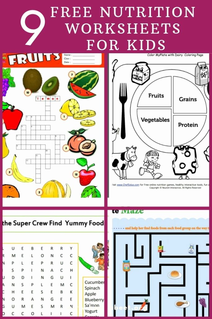 Nutrition Worksheets for Preschoolers Printable 9 Free Nutrition Worksheets for Kids Health Beet