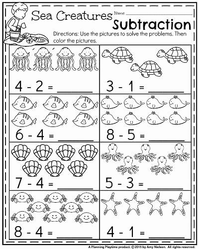 Ocean themed Worksheets for Preschoolers Ideas Summer Kindergarten Math Worksheets Ocean themed