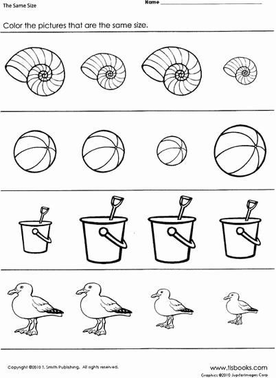 Ocean themed Worksheets for Preschoolers Kids Beach themed Worksheet for Learning to Distinguish and Match