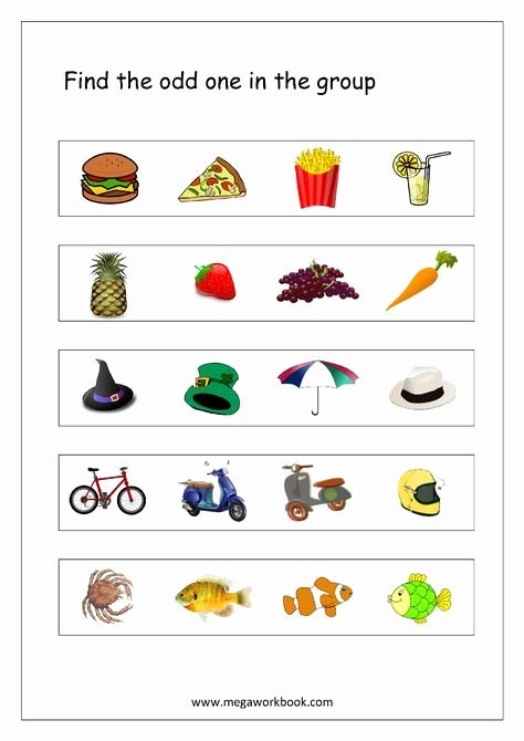 Odd One Out Worksheets for Preschoolers Best Of Free General Aptitude Worksheets Odd E Out Worksheets