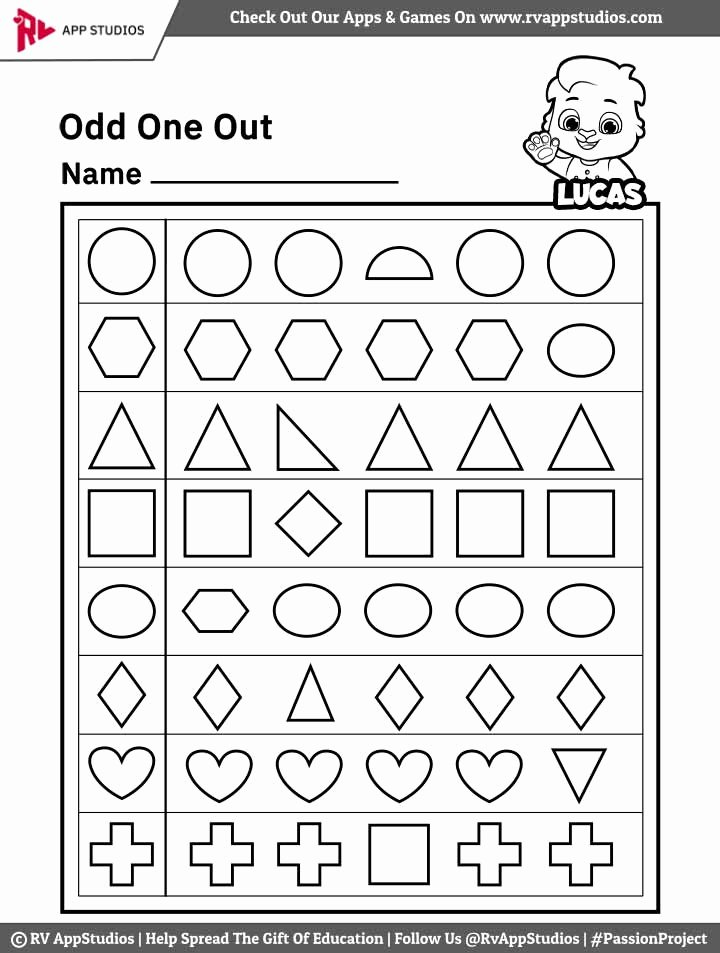 Odd One Out Worksheets for Preschoolers Inspirational Odd E Out Worksheet Free Printable Worksheets for Kids