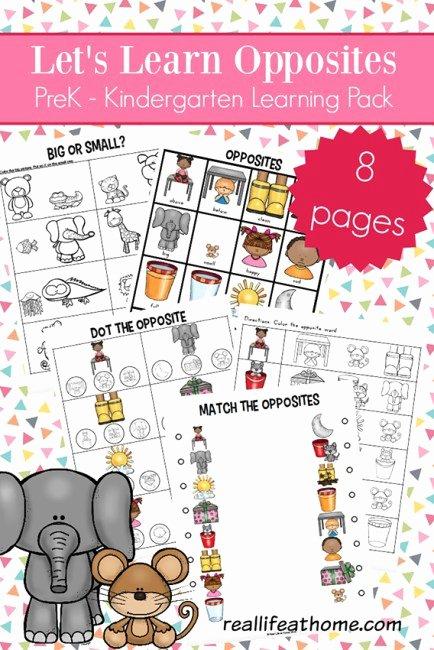 Opposite Worksheets for Preschoolers Kids Opposites Worksheets for Kindergarten and Preschool