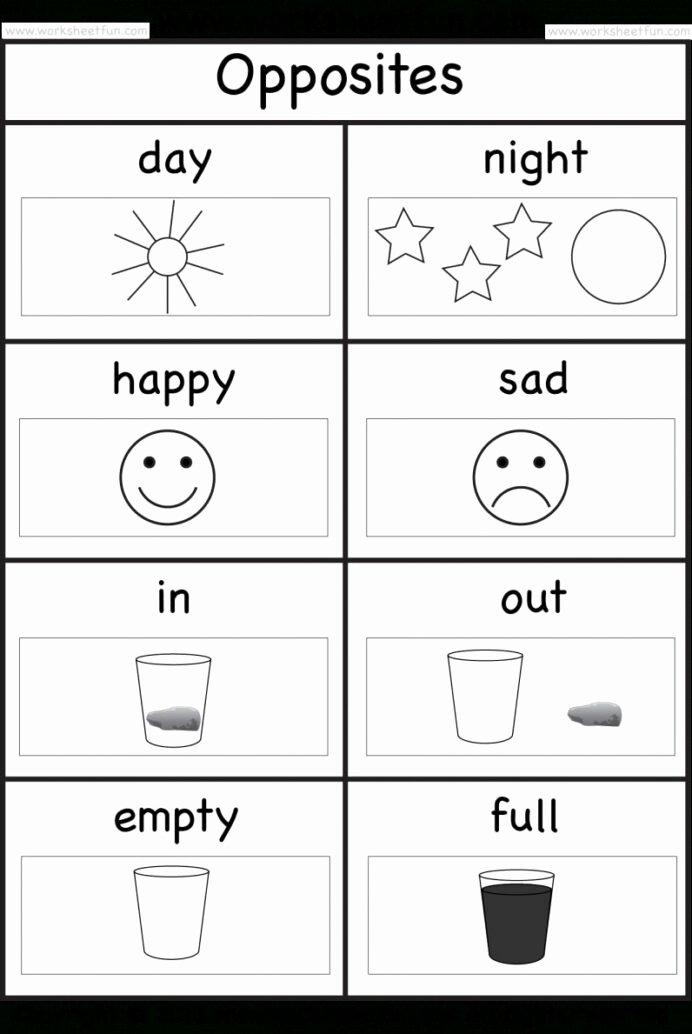 Opposite Worksheets for Preschoolers top Opposite Worksheet for Preschool Opposites Worksheets Grade