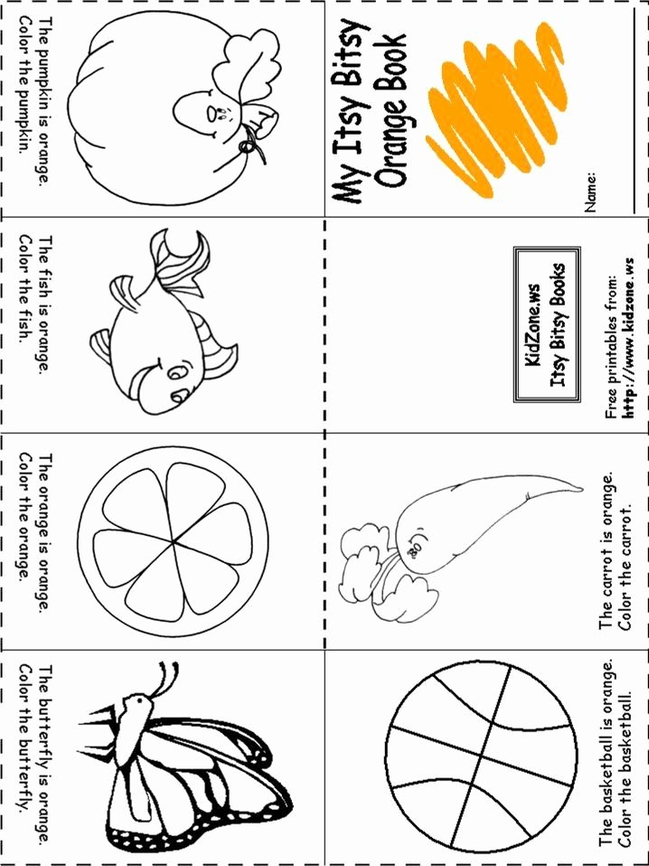 Orange Worksheets for Preschoolers Free Pre School Coloring Book Elegant orange Worksheets for