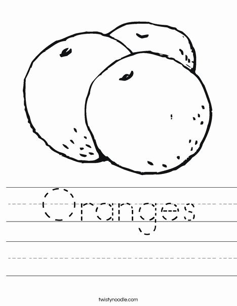 Orange Worksheets for Preschoolers New oranges Worksheet