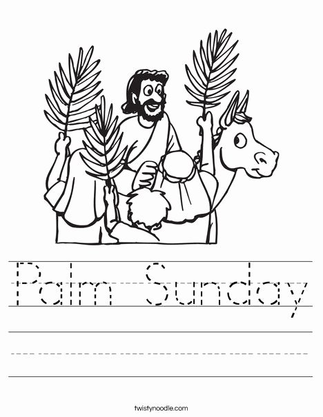 Palm Sunday Worksheets for Preschoolers Printable Palm Sunday Worksheet