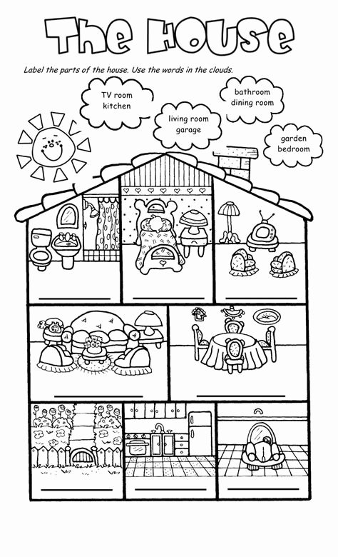 Parts Of the House Worksheets for Preschoolers Ideas House Worksheets the House song and Worksheet