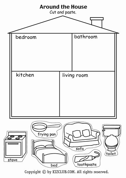 Parts Of the House Worksheets for Preschoolers Lovely Pin On Parts Of the House