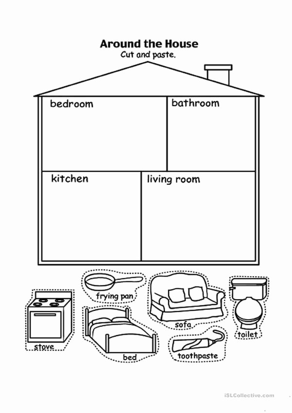 Parts Of the House Worksheets for Preschoolers Printable Parts Of the House
