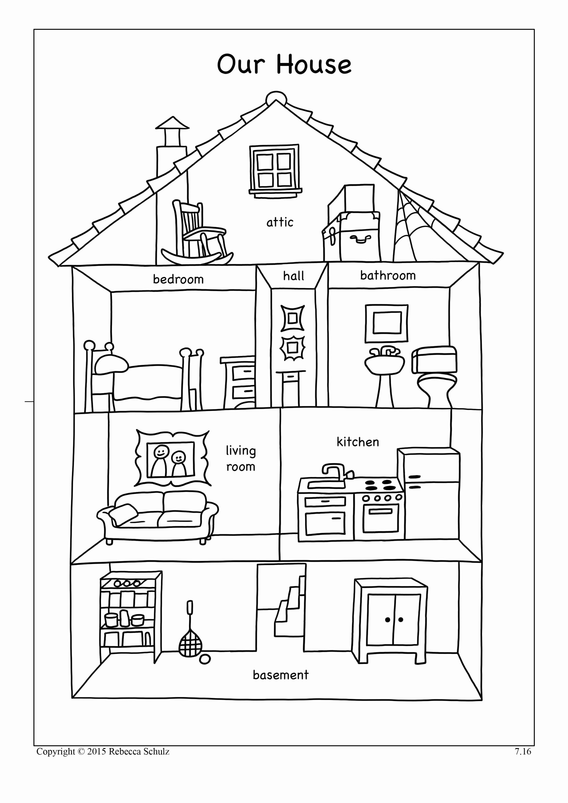 Parts Of the House Worksheets for Preschoolers Printable Resultado Imagen Para Worksheets Parts the House Con