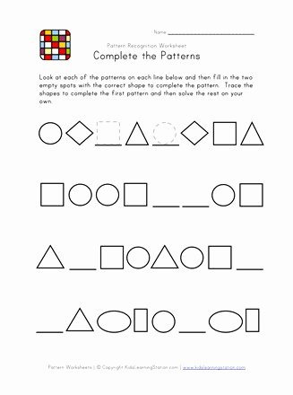 Pattern Worksheets for Preschoolers Best Of Difficult Pattern Recognition Black and White Worksheet 2