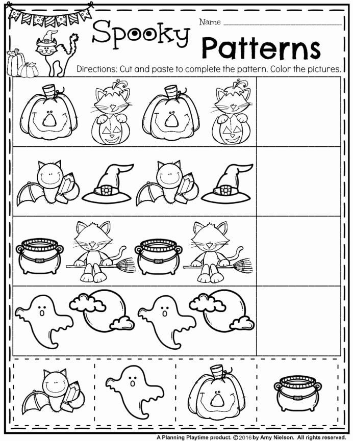 Pattern Worksheets for Preschoolers Free Best Of Halloween Pattern Worksheets Worksheets Fun Math Activities