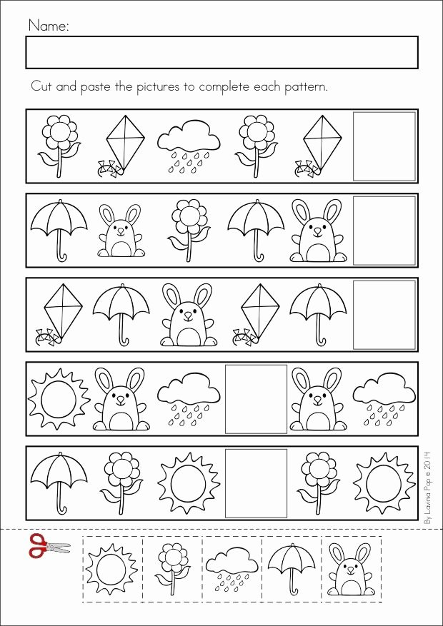 Pattern Worksheets for Preschoolers Free Kids Pattern Worksheet for Kids
