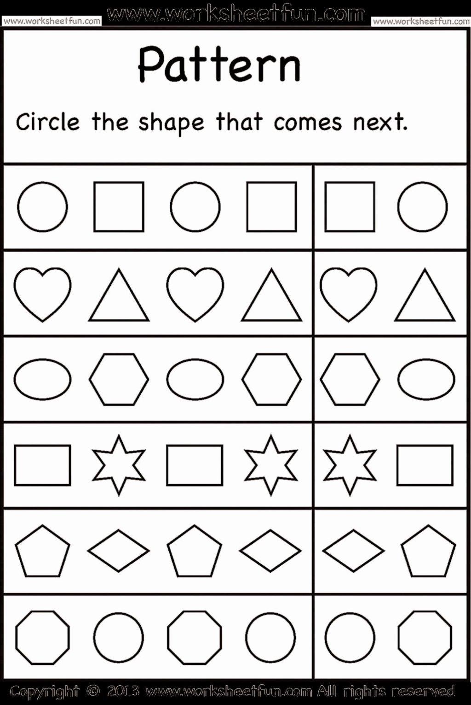 Pattern Worksheets for Preschoolers Ideas Worksheet Free Printable Preten Worksheets Pattern