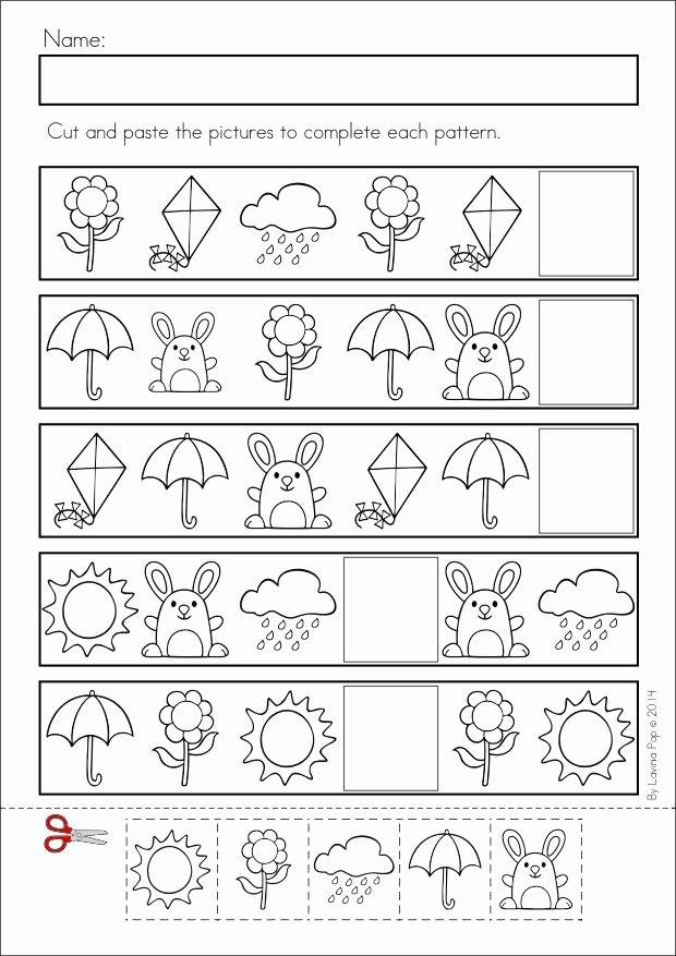 Pattern Worksheets for Preschoolers New Pattern Worksheet for Kids