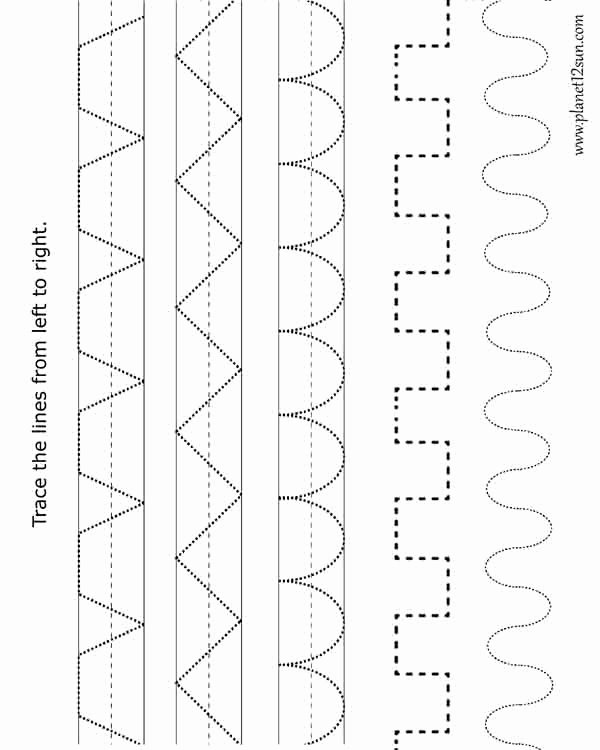 Patterning Worksheets for Preschoolers Fresh Coloring Pages Tracing Patterns Worksheet for Kids