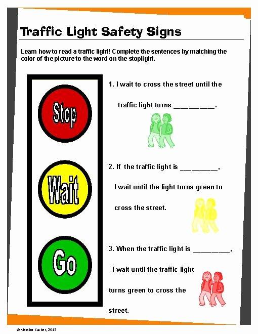 Pedestrian Safety Worksheets for Preschoolers Best Of Traffic Rules Worksheet Clipart Best