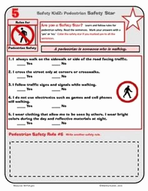 Pedestrian Safety Worksheets for Preschoolers Lovely Pedestrian Safety Lesson Plan for Preschoolers Bicycle and