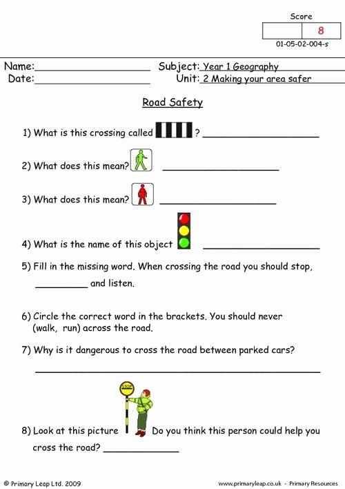Pedestrian Safety Worksheets for Preschoolers top Road Safety Worksheets Printable
