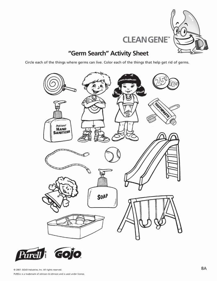 Personal Hygiene Worksheets for Preschoolers top Worksheets for Kids Level with Personal Hygiene
