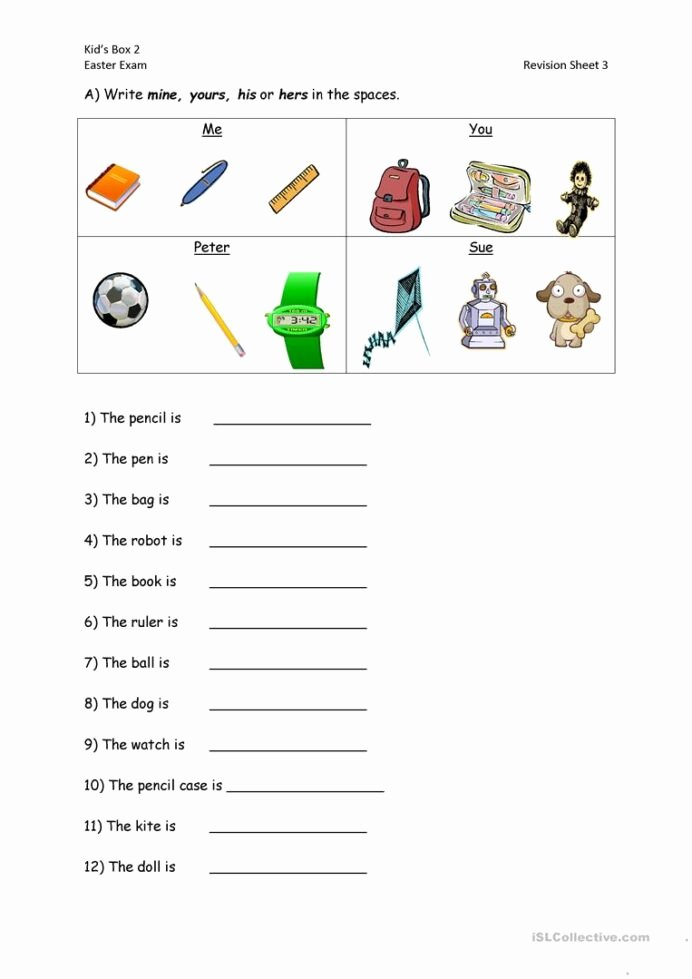 Personal Pronouns Worksheets for Preschoolers Best Of Algebra Math Calculator English Possessive Pronouns