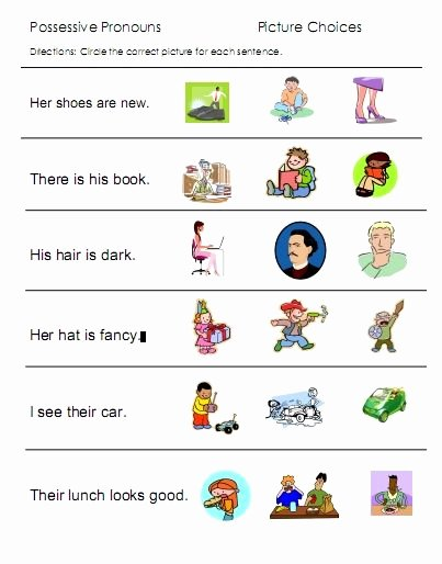 Personal Pronouns Worksheets for Preschoolers Fresh Pronouns Free Language Stuff