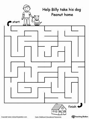 Pet Worksheets for Preschoolers Printable Pet Walk Maze