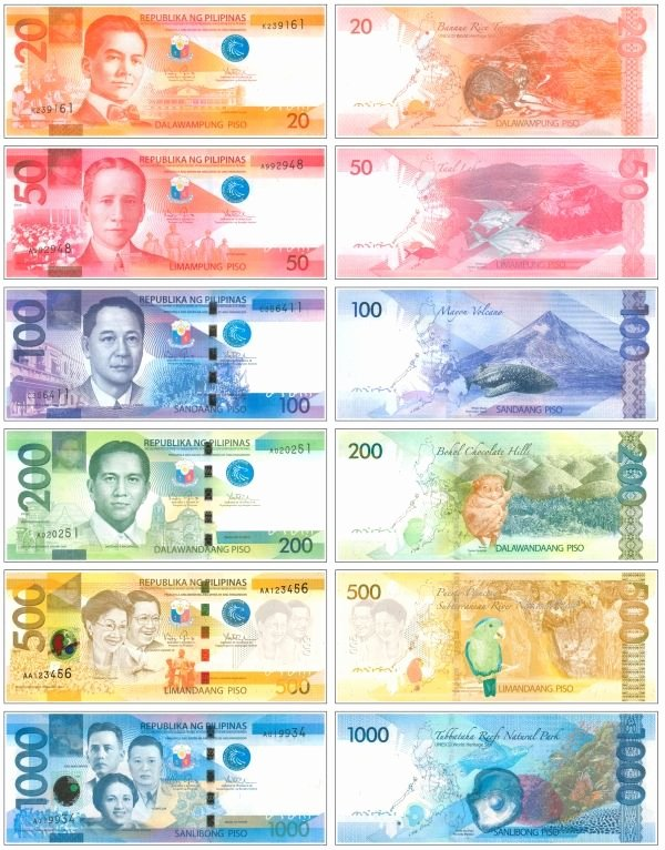 Philippine Money Worksheets for Preschoolers Printable the New Generation Philippine Banknotes