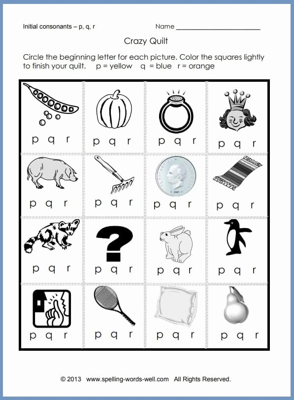 Phonics Worksheets for Preschoolers Printable Printable Phonics Worksheets for Learners Letter Crazy Quilt